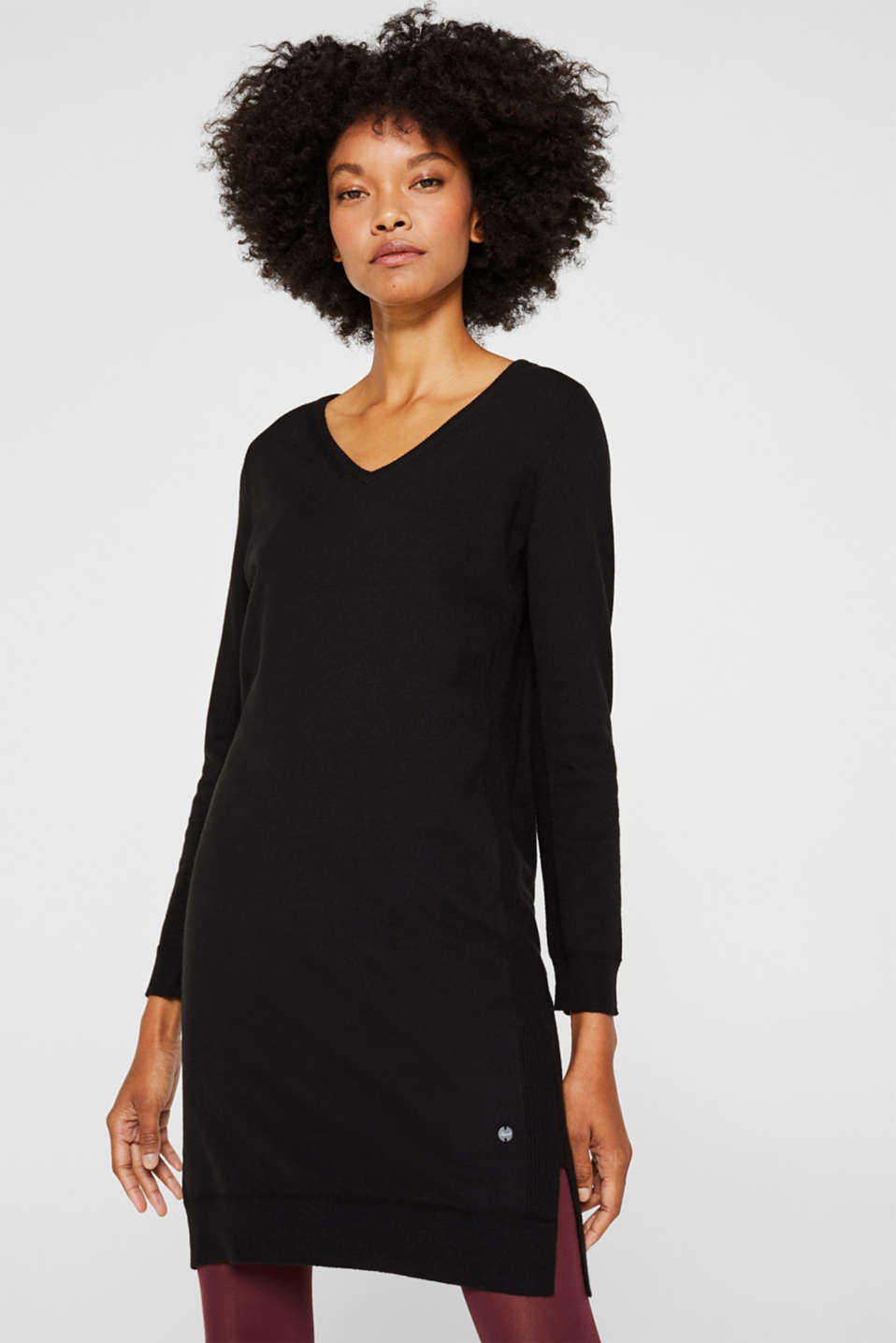 Esprit - With wool: fine knit dress