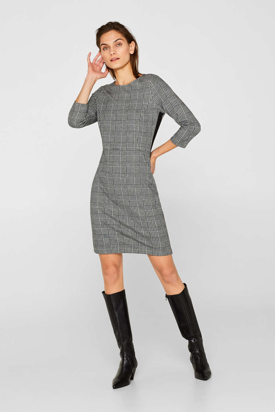 Dresses knitted, BLACK 2, detail image number 5