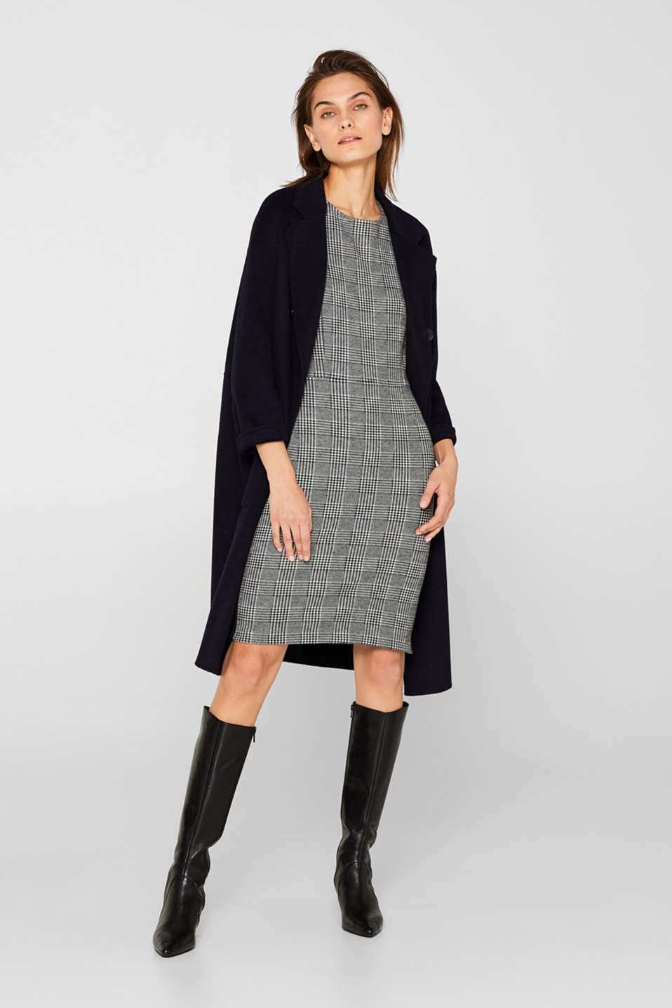 Dresses knitted, BLACK 2, detail image number 1