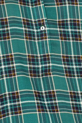 Lightweight slip-on blouse with a check pattern, DARK TEAL GREEN, detail