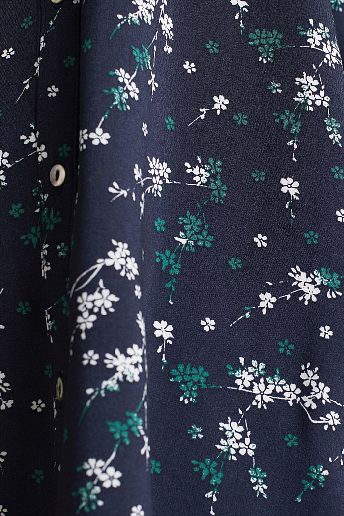 Print blouse with LENZING™ ECOVERO™, NAVY, detail image number 3