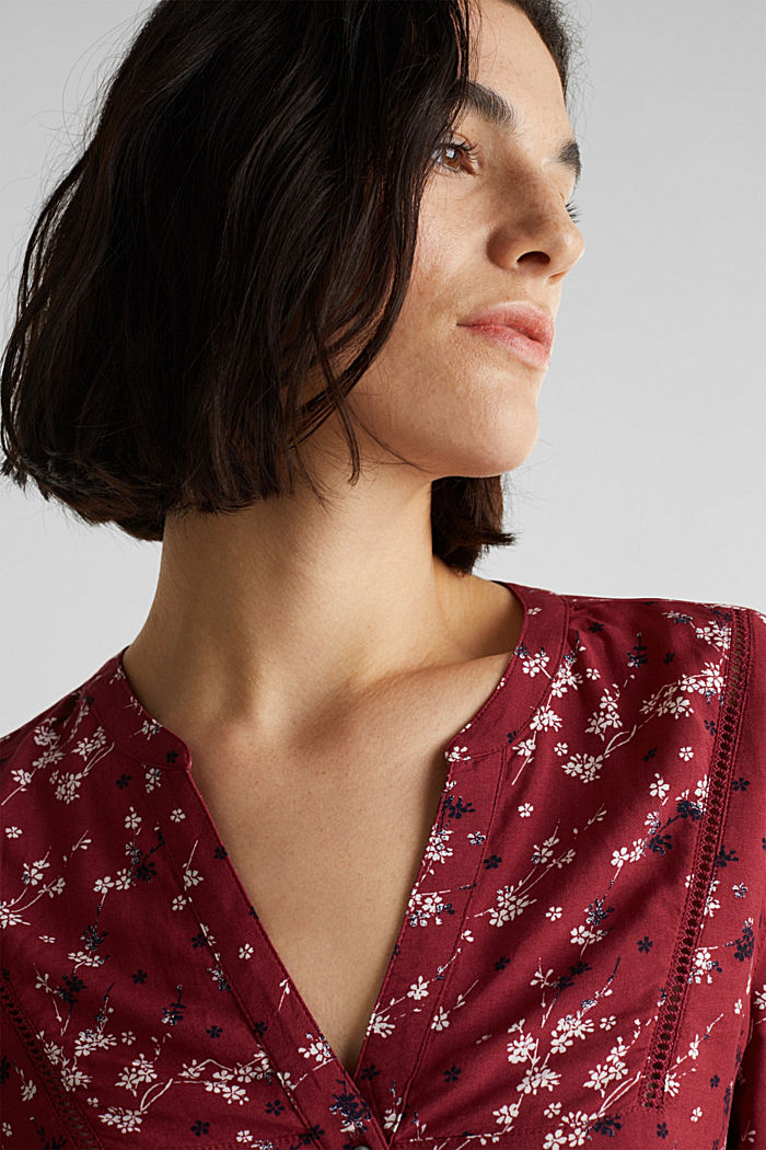 Print blouse with LENZING™ ECOVERO™