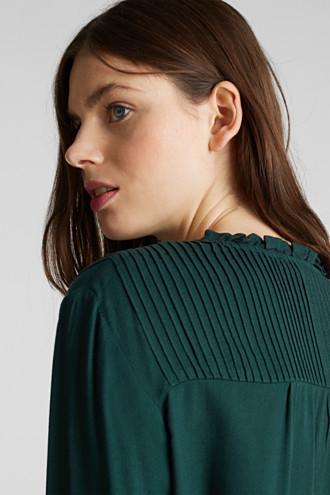 Crêpe blouse with pintucks