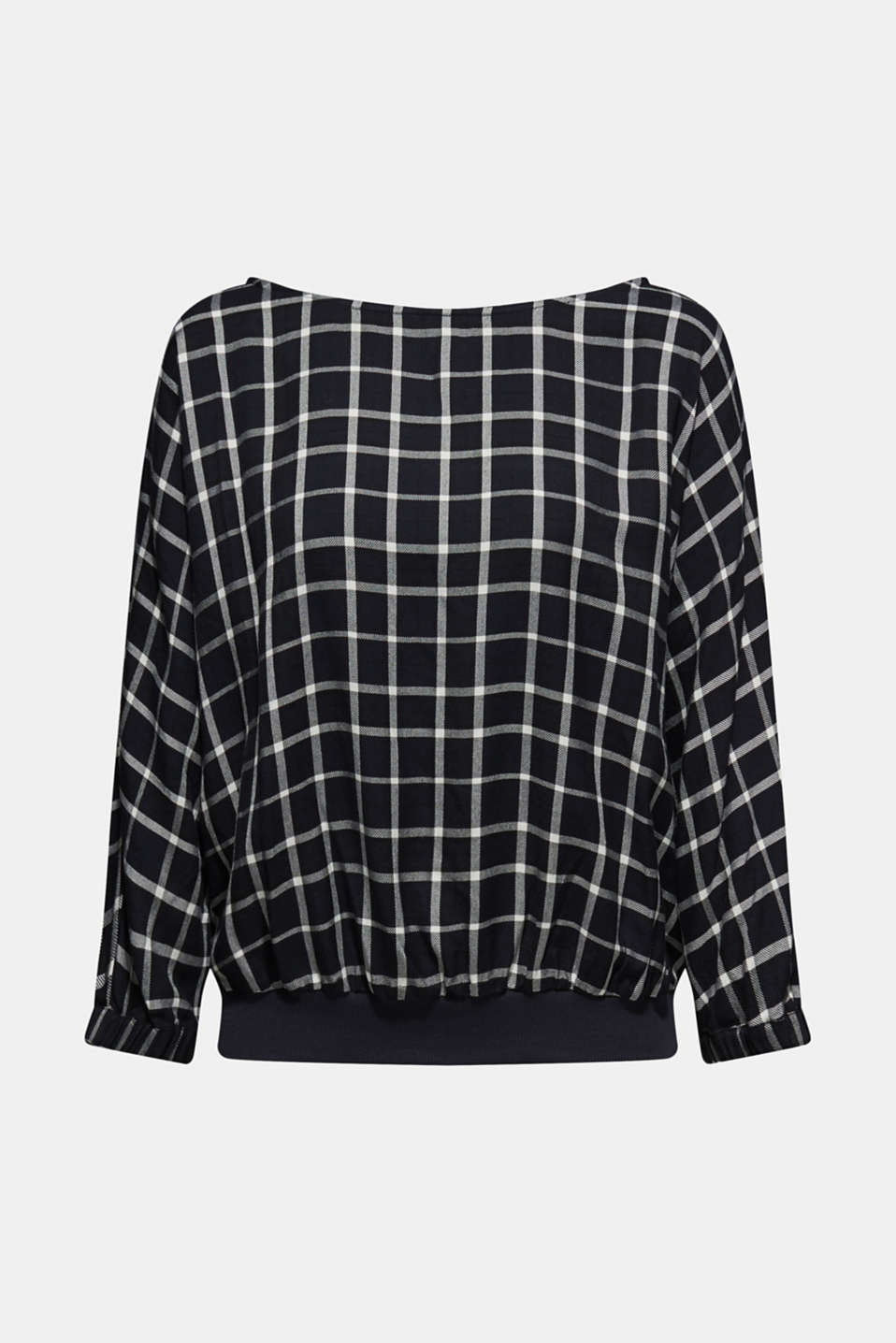Esprit - Batwing blouse with ribbed borders