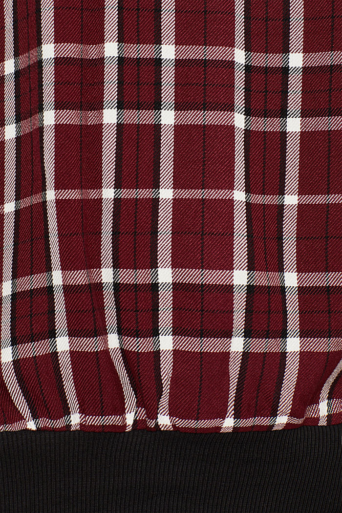 Batwing blouse with ribbed borders, GARNET RED, detail image number 4