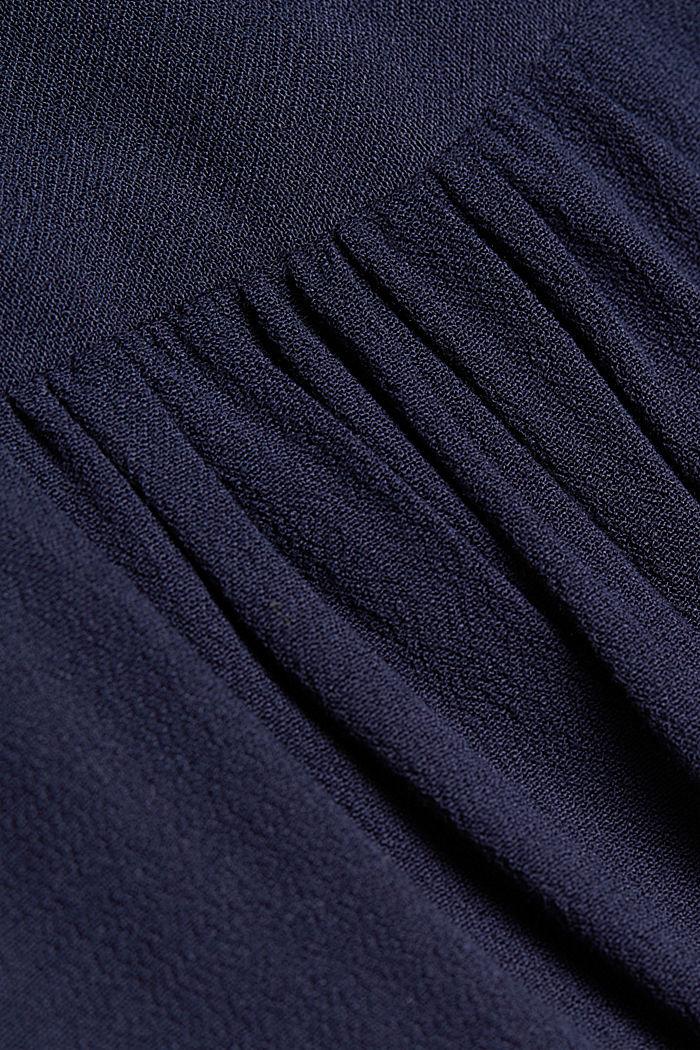 Crêpe blouse met henley hals, NAVY, detail image number 4
