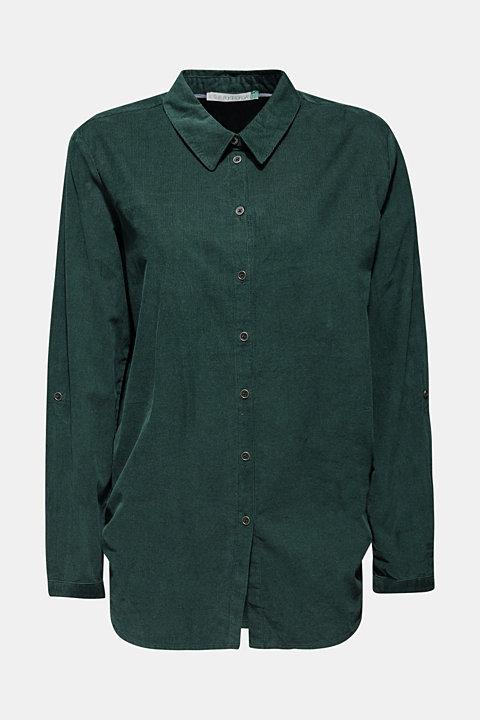 Corduroy shirt blouse, 100% cotton