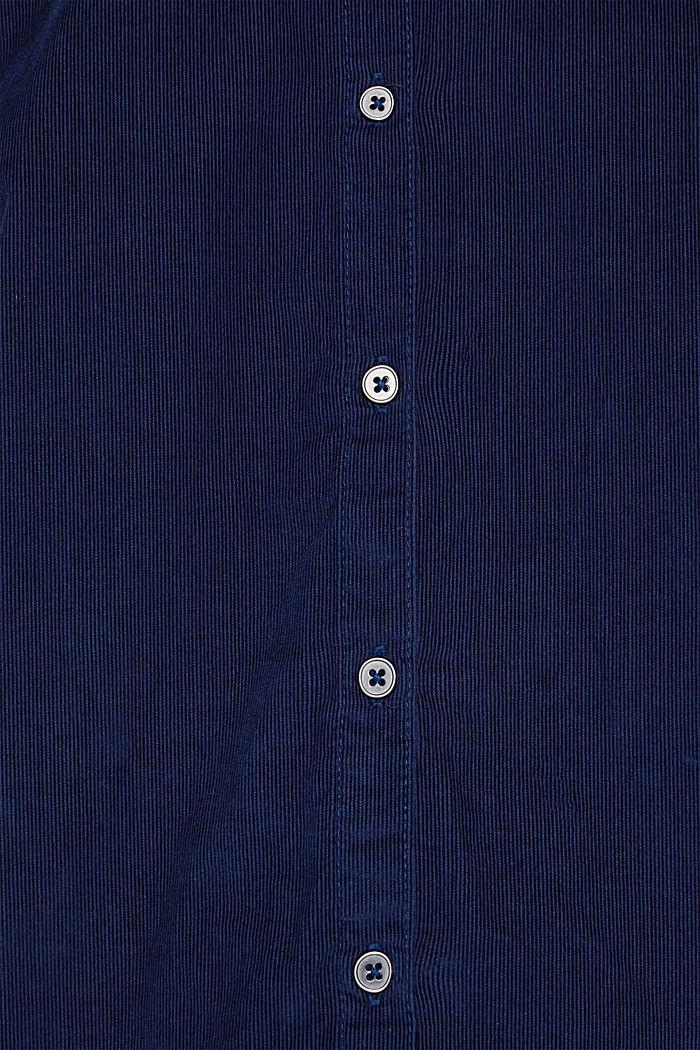 Corduroy shirt blouse, 100% cotton, NAVY, detail image number 4