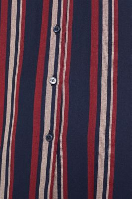 Long striped blouse, NAVY, detail