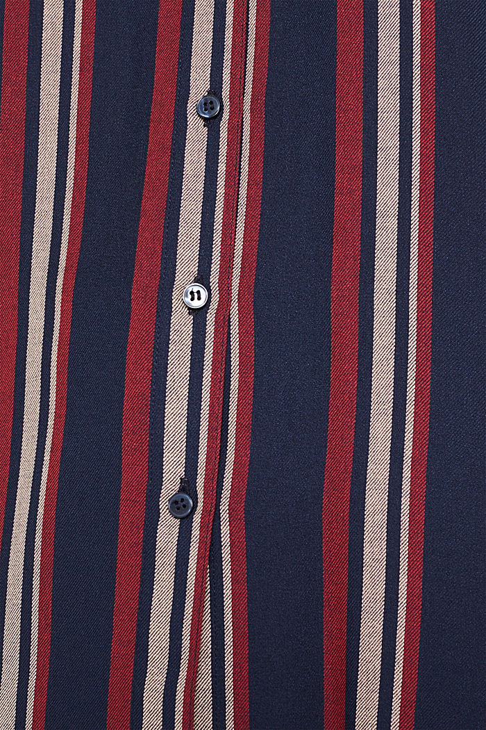 Long striped blouse, NAVY, detail image number 4