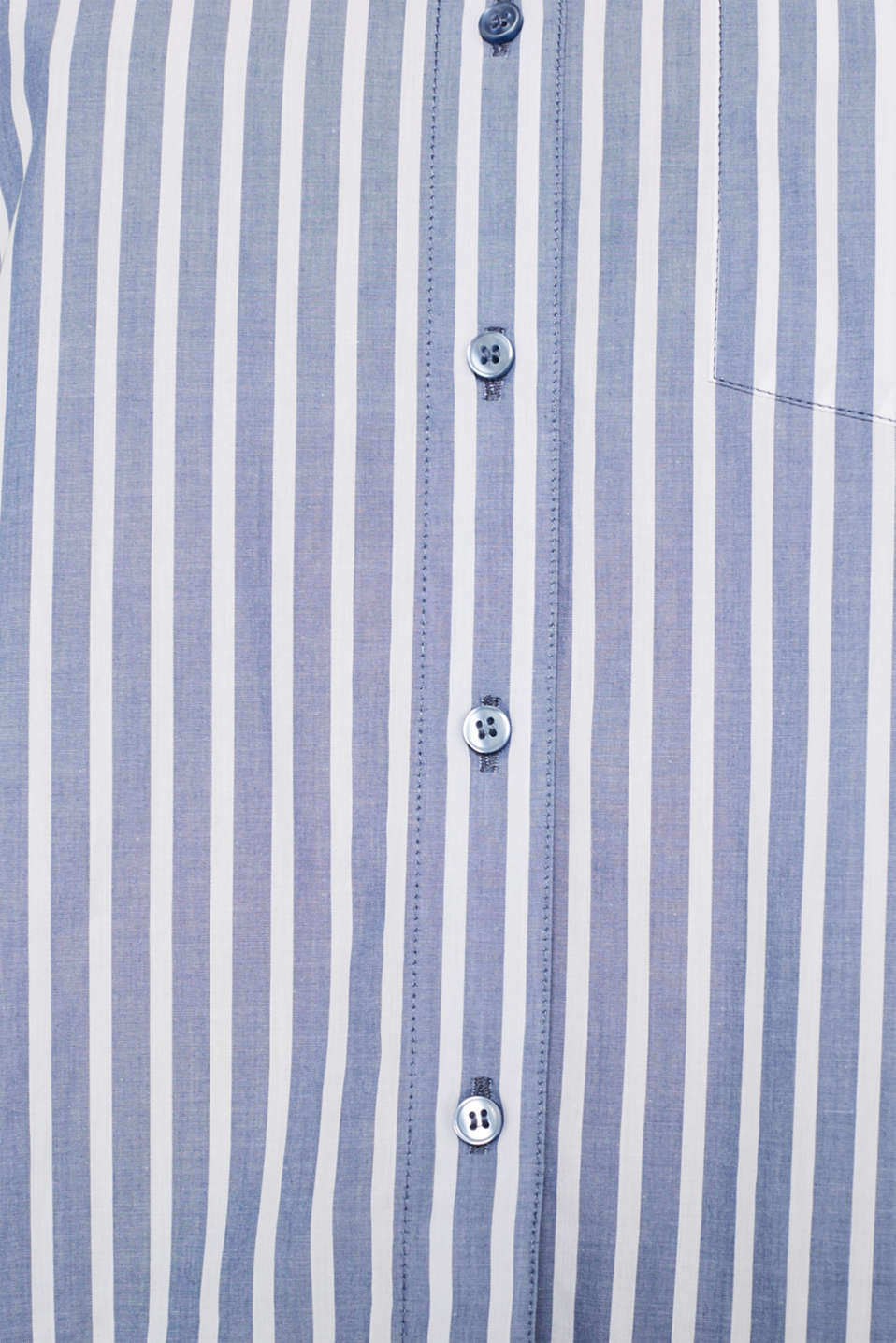 Blouse with stripes, 100% cotton, BLUE, detail image number 4