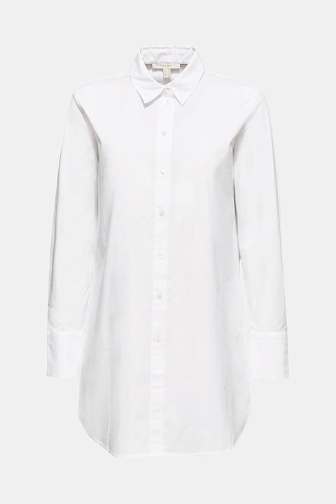 Long blouse made of stretch cotton