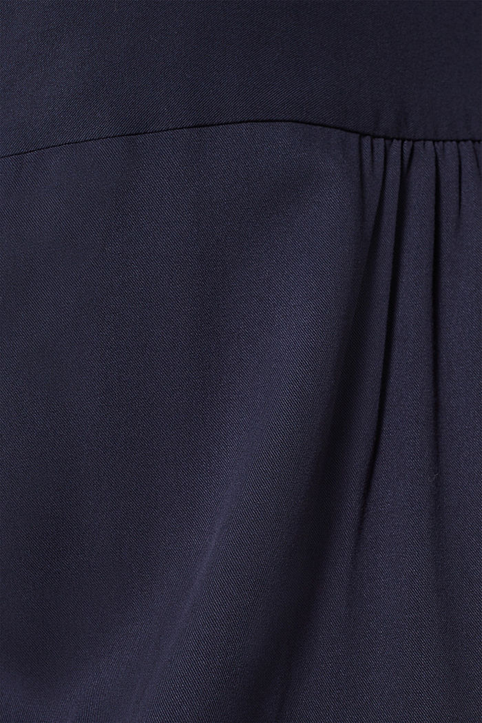 Long blouse with a stand-up collar, NAVY, detail image number 4