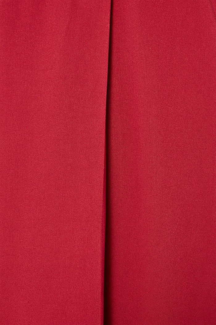 Long blouse with a stand-up collar, GARNET RED, detail image number 4