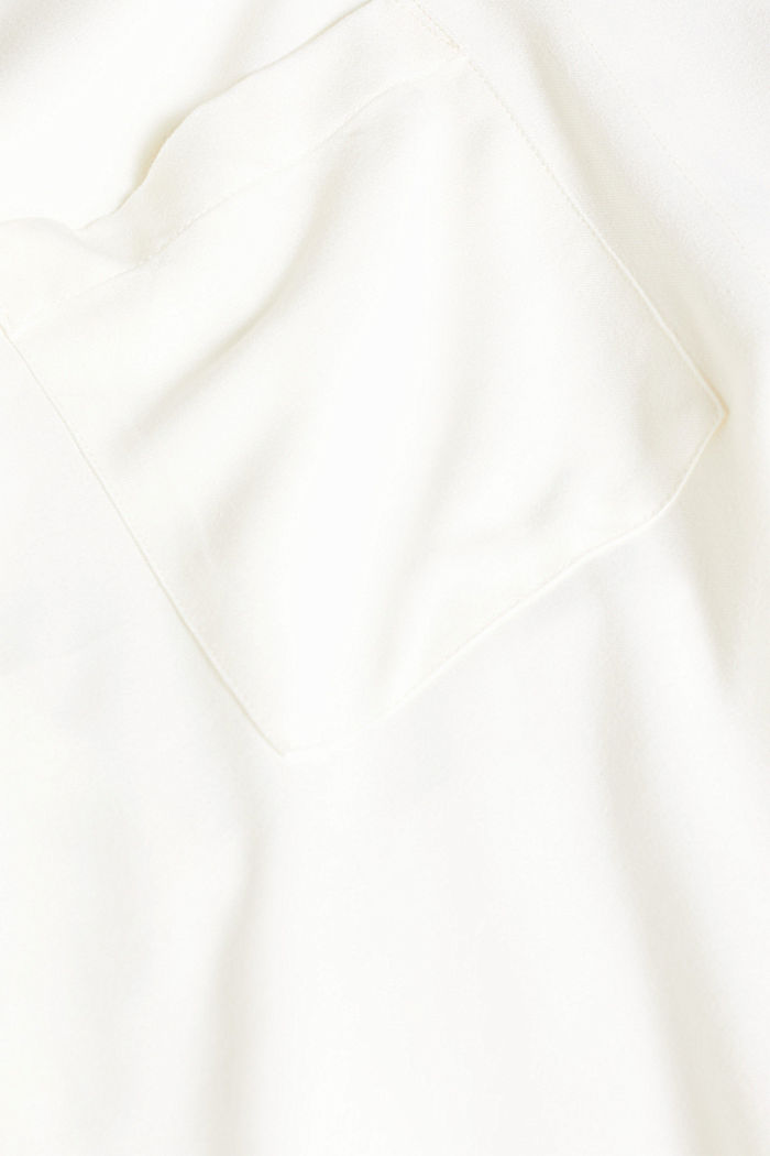 Slip-on blouse with a band collar, OFF WHITE, detail image number 4