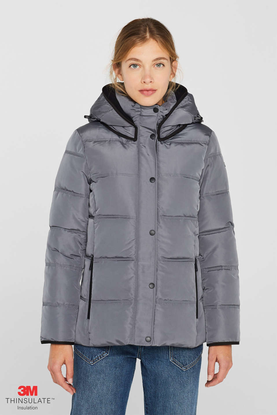 Quilted jacket with 3M™ Thinsulate™ technology, DARK GREY, detail image number 0