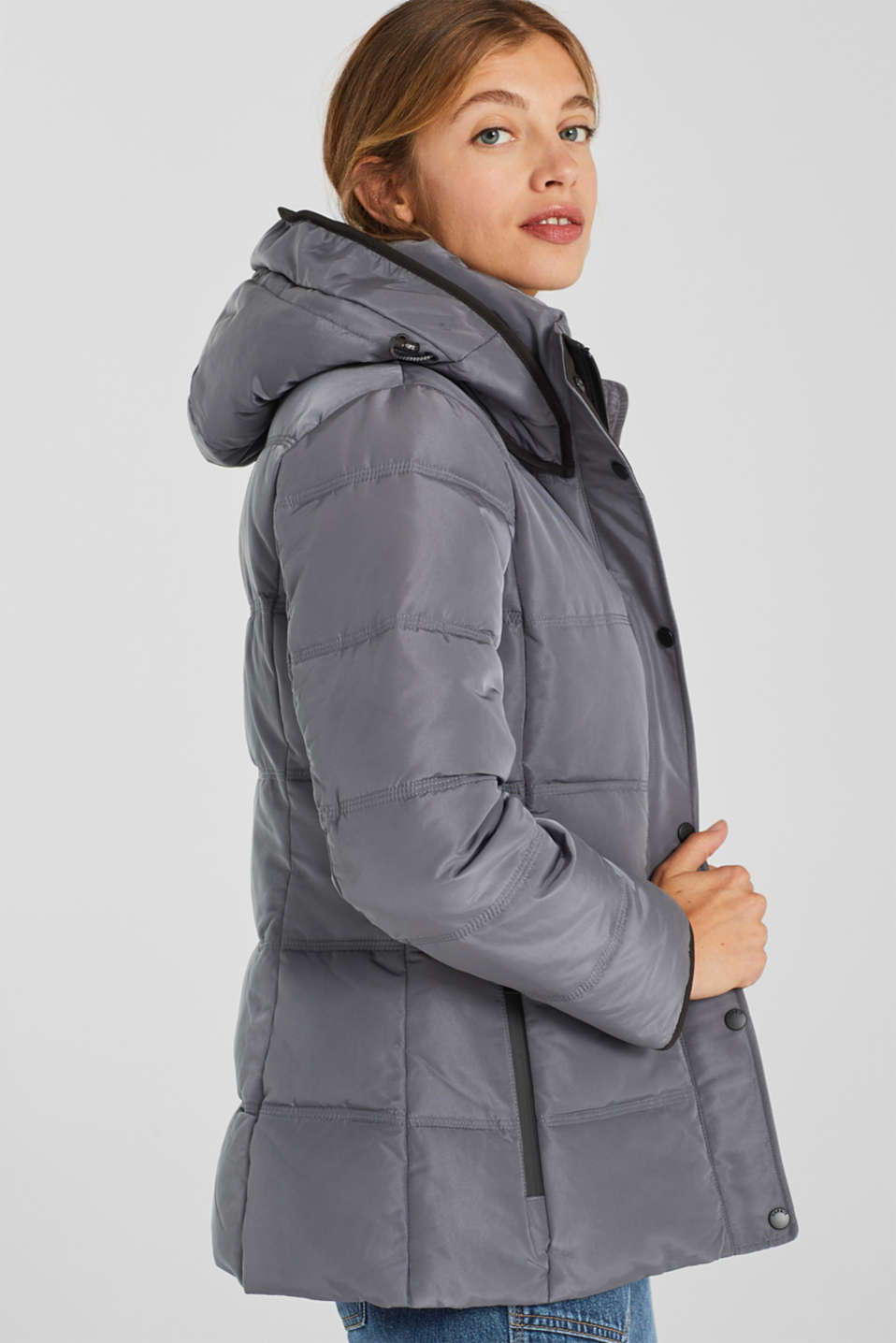 Quilted jacket with 3M™ Thinsulate™ technology, DARK GREY, detail image number 5