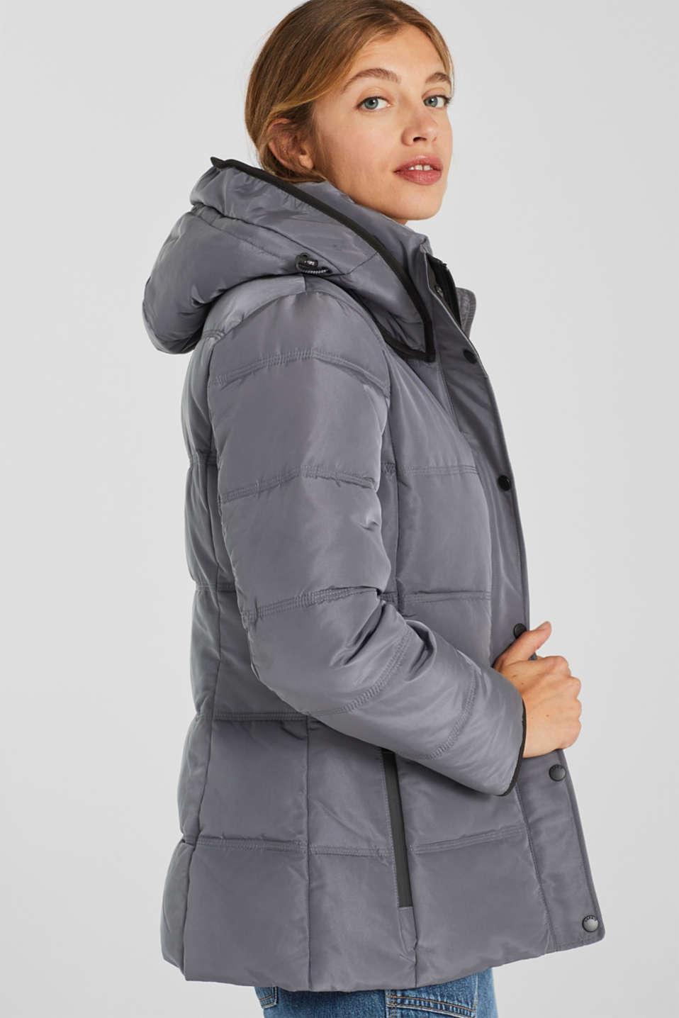 Jackets outdoor woven, DARK GREY, detail image number 5
