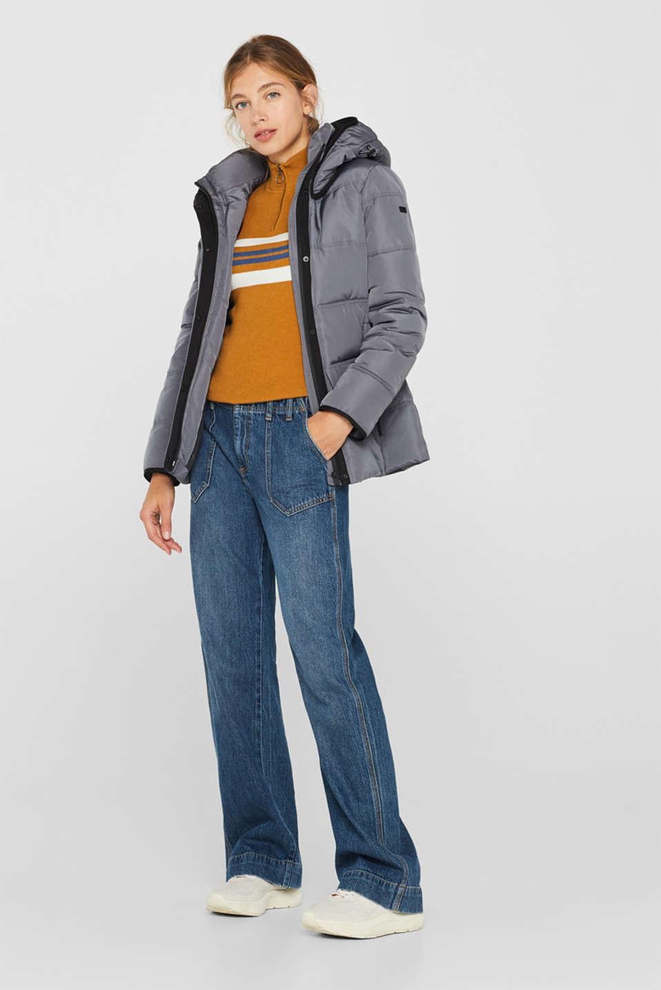 Jackets outdoor woven, DARK GREY, detail image number 1