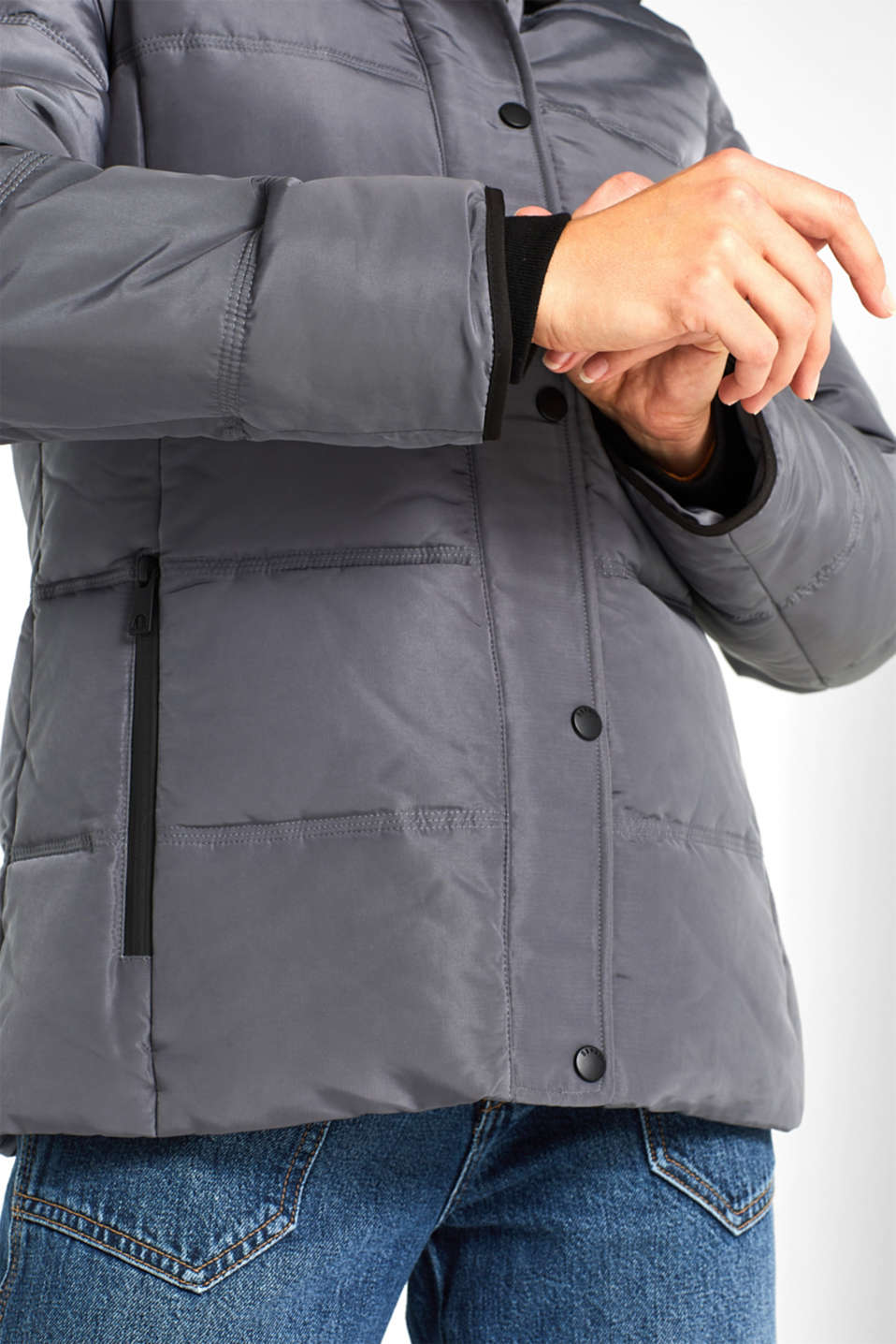 Quilted jacket with 3M™ Thinsulate™ technology, DARK GREY, detail image number 6