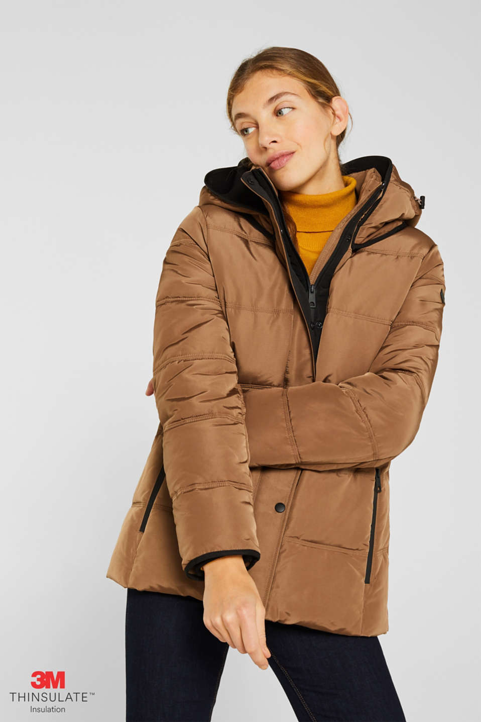 Quilted jacket with 3M™ Thinsulate™ technology, TAUPE, detail image number 0
