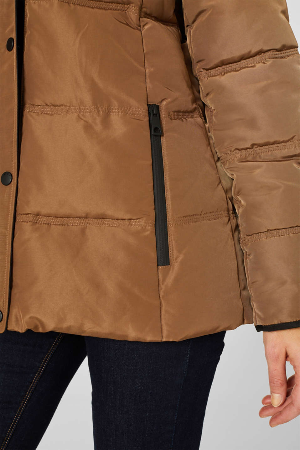 Quilted jacket with 3M™ Thinsulate™ technology, TAUPE, detail image number 4