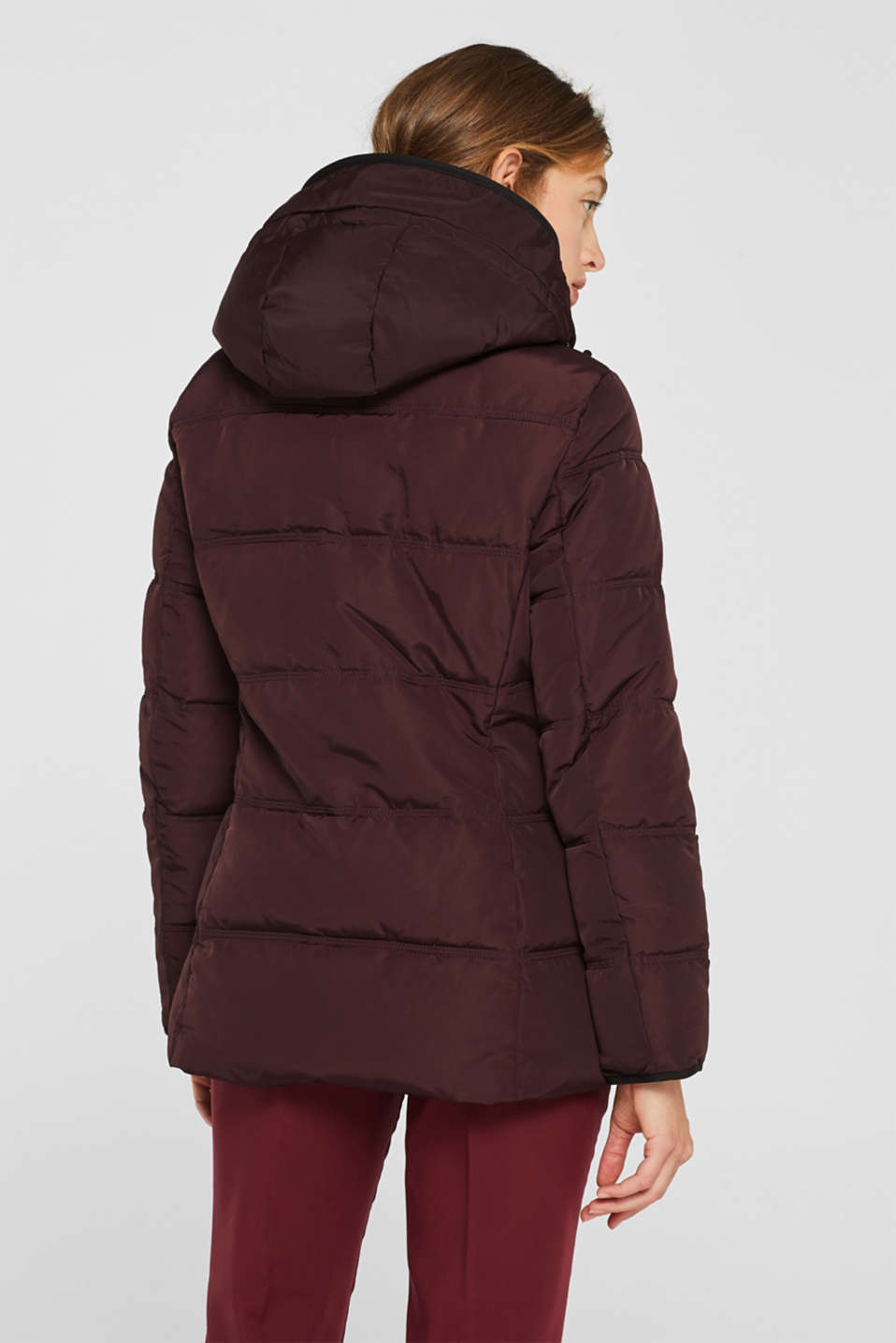 Quilted jacket with 3M™ Thinsulate™ technology, BORDEAUX RED, detail image number 3