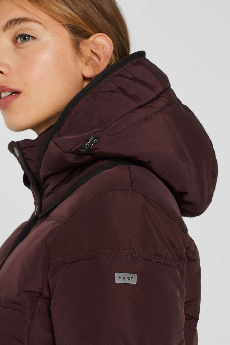 Quilted jacket with 3M™ Thinsulate™ technology, BORDEAUX RED, detail image number 2