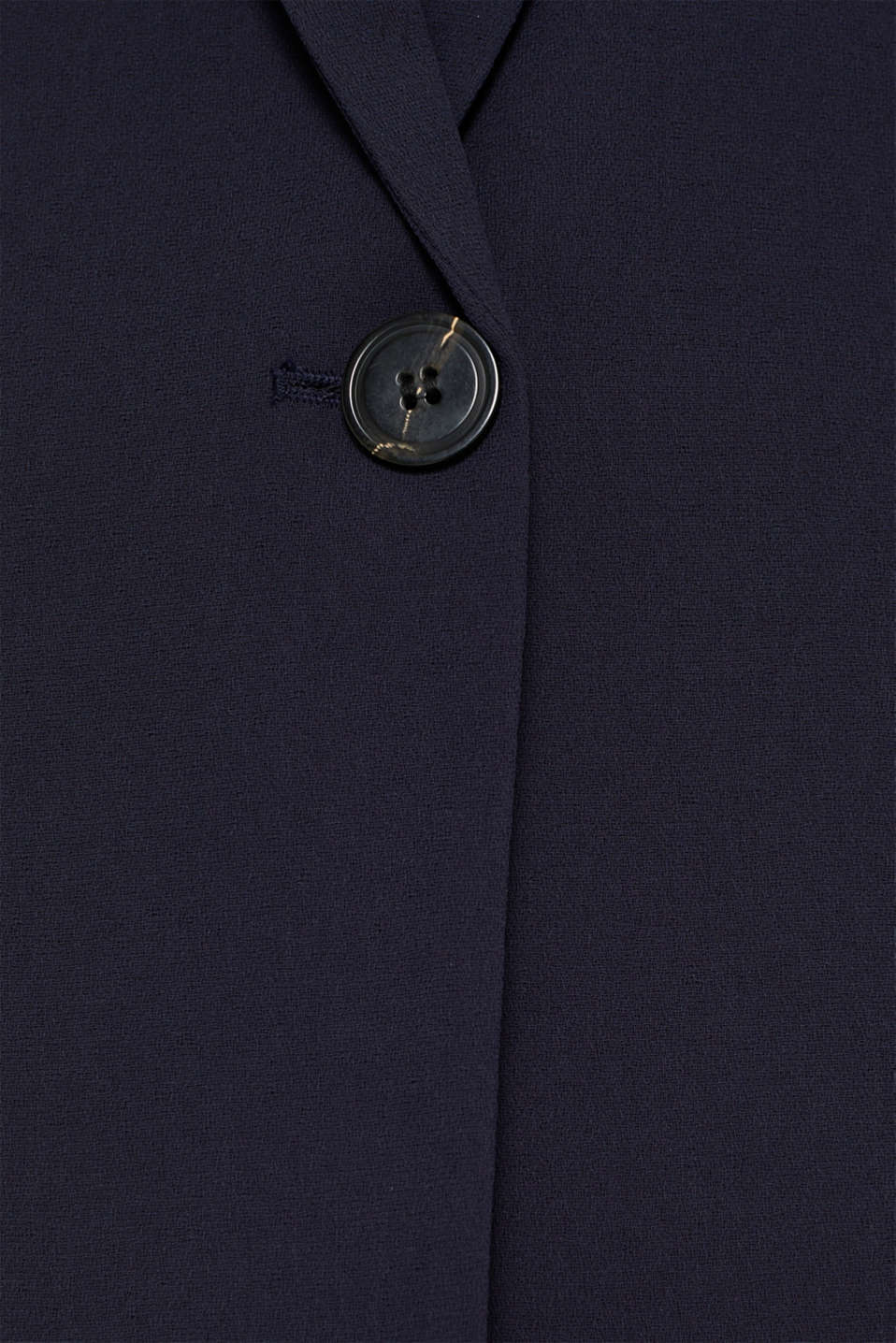 Blazer with gathered 3/4-length sleeves, NAVY, detail image number 3