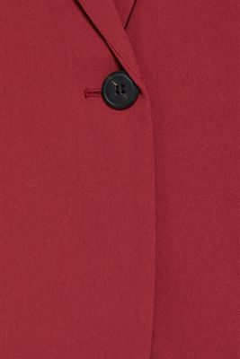 Blazer with gathered 3/4-length sleeves, GARNET RED, detail