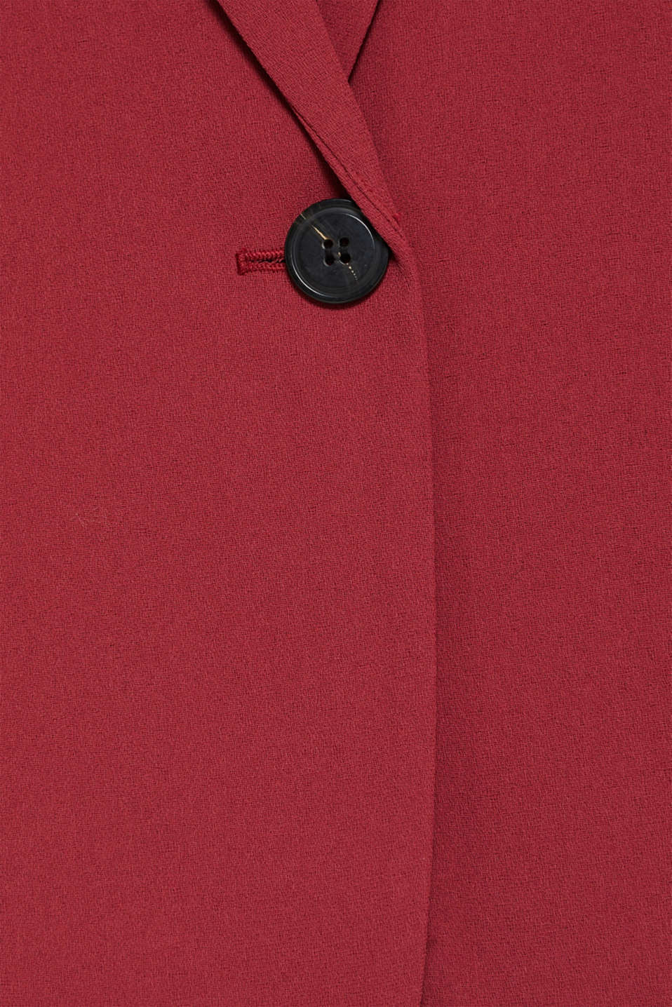 Blazer with gathered 3/4-length sleeves, GARNET RED, detail image number 2
