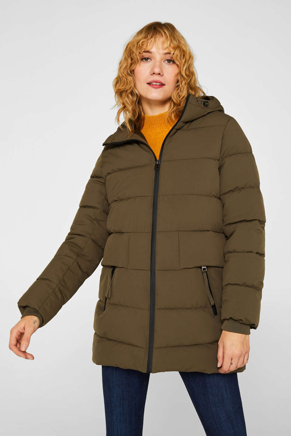 Esprit - Quilted jacket with 3M® Thinsulate® filling