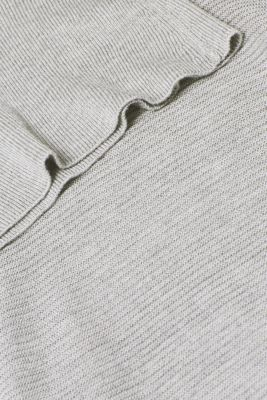 Oversized jumper with a ribbed texture, MEDIUM GREY 5, detail