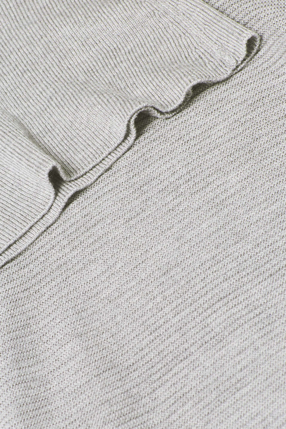 Oversized jumper with a ribbed texture, MEDIUM GREY 5, detail image number 4