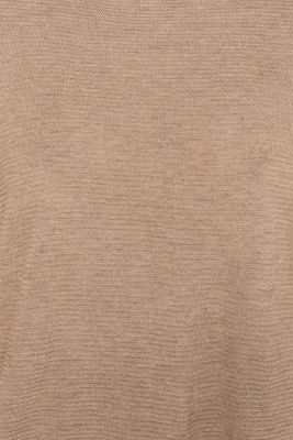 Oversized jumper with a ribbed texture, TAUPE 5, detail
