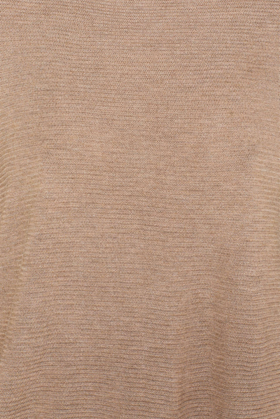 Oversized jumper with a ribbed texture, TAUPE 5, detail image number 4