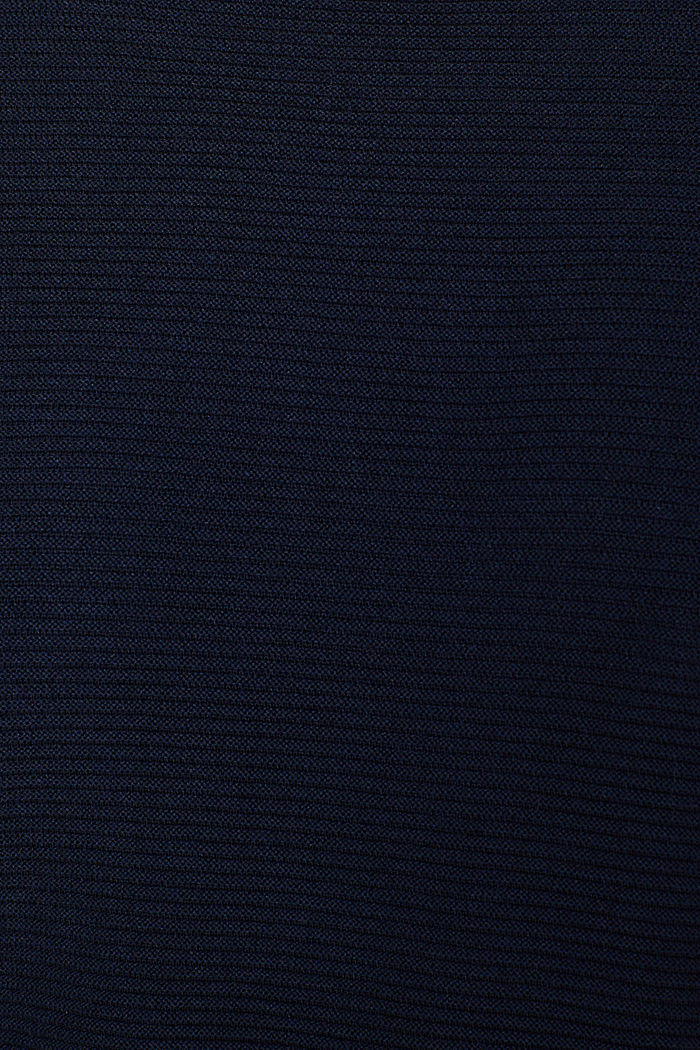 Oversized jumper with a ribbed texture, NAVY, detail image number 4