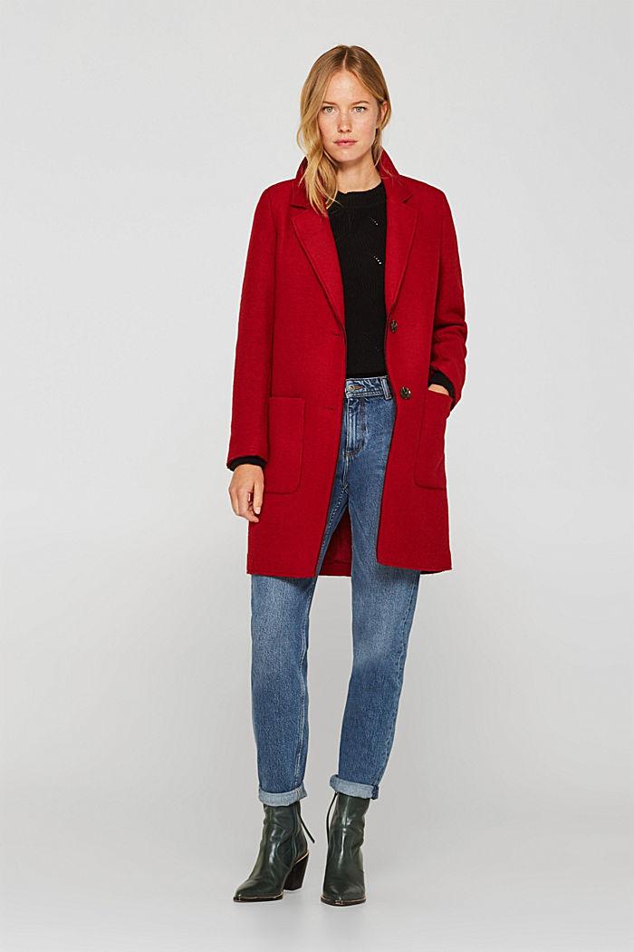 Mit Wolle: Pullover mit Struktur-Muster, BLACK, detail image number 1