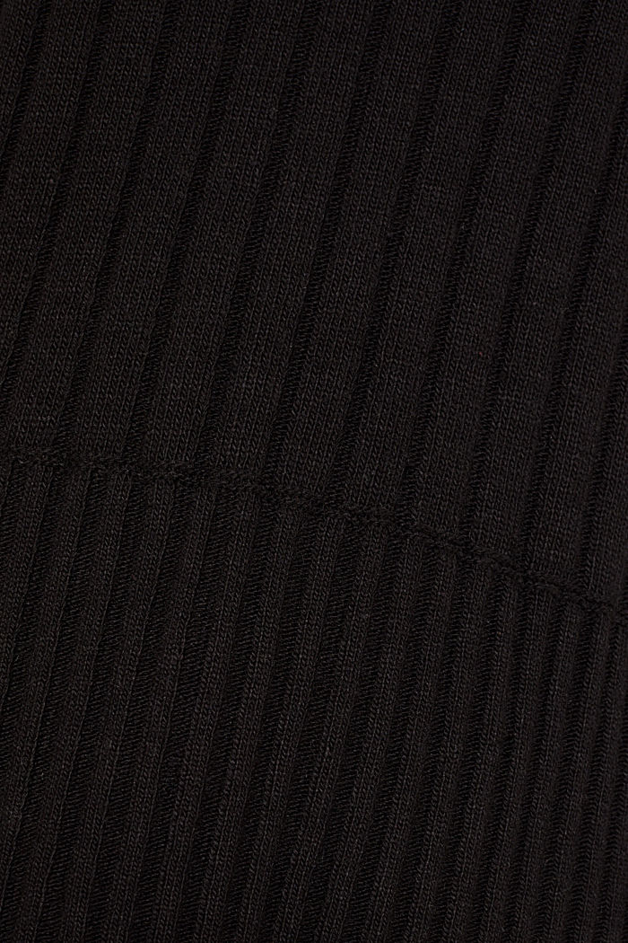 With cashmere: widely ribbed jumper, BLACK, detail image number 4