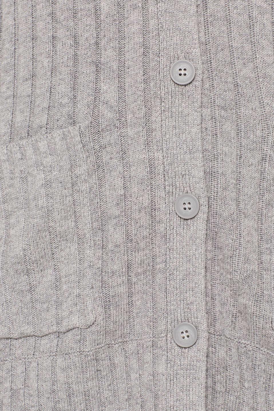 Sweaters cardigan, MEDIUM GREY 5, detail image number 4