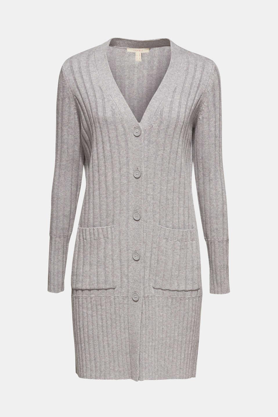 Sweaters cardigan, MEDIUM GREY 5, detail image number 6