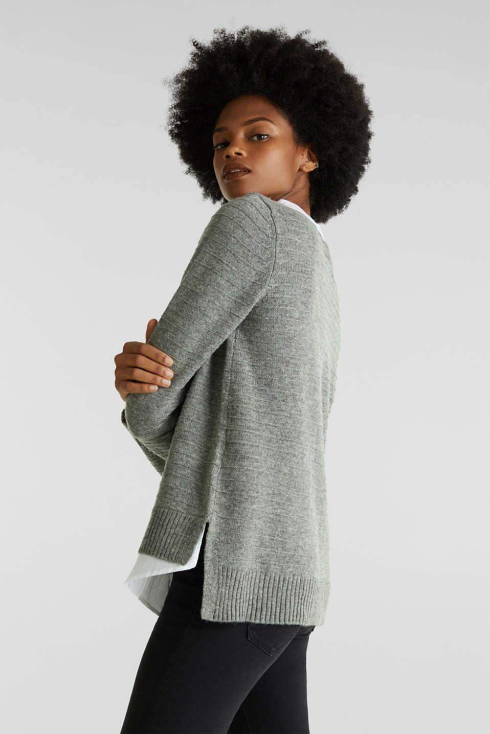 Sweaters, MEDIUM GREY 5, detail image number 7