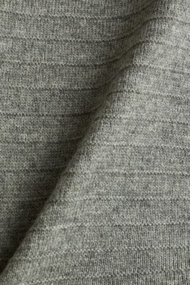 With wool: textured layered jumper