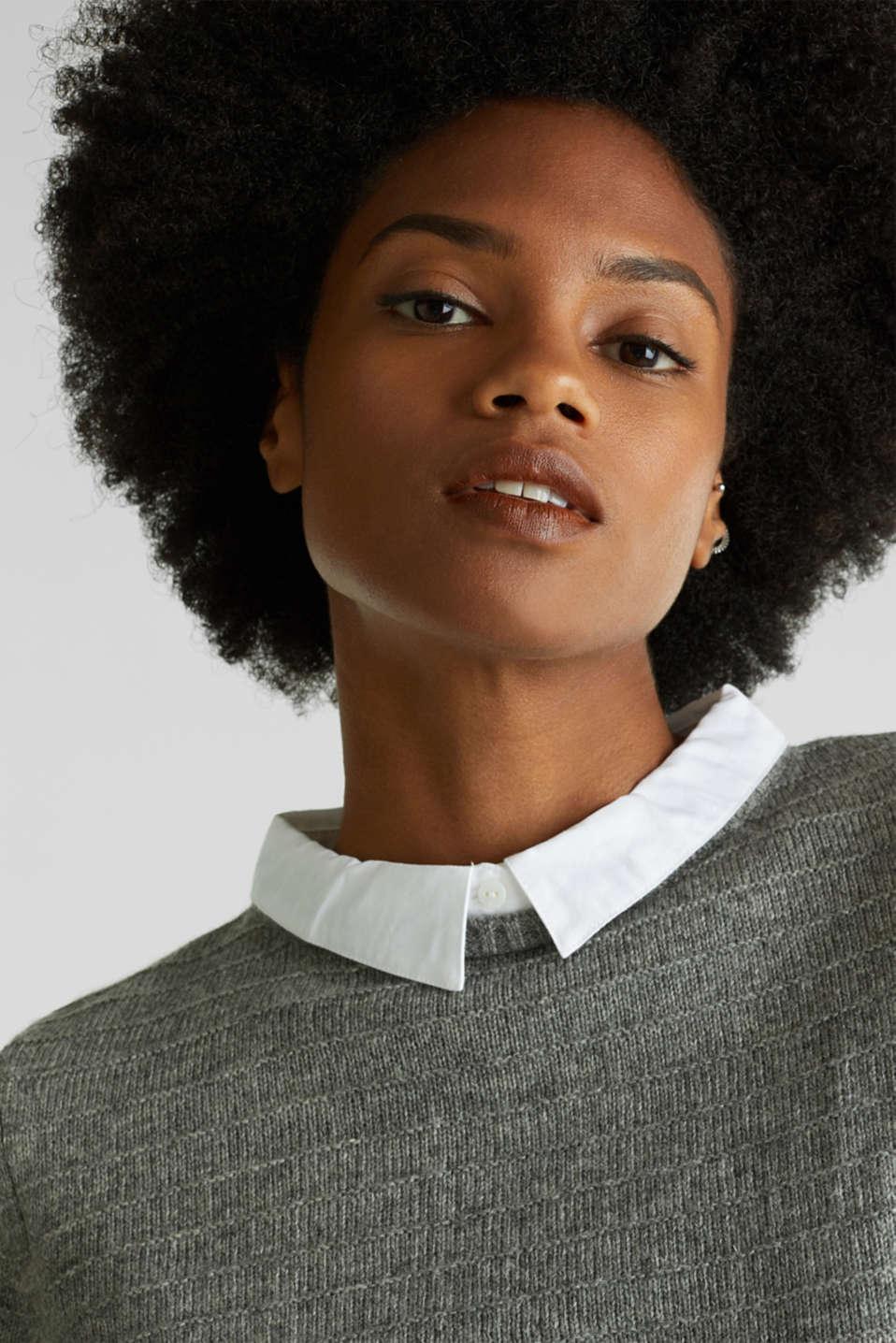 Sweaters, MEDIUM GREY 5, detail image number 8