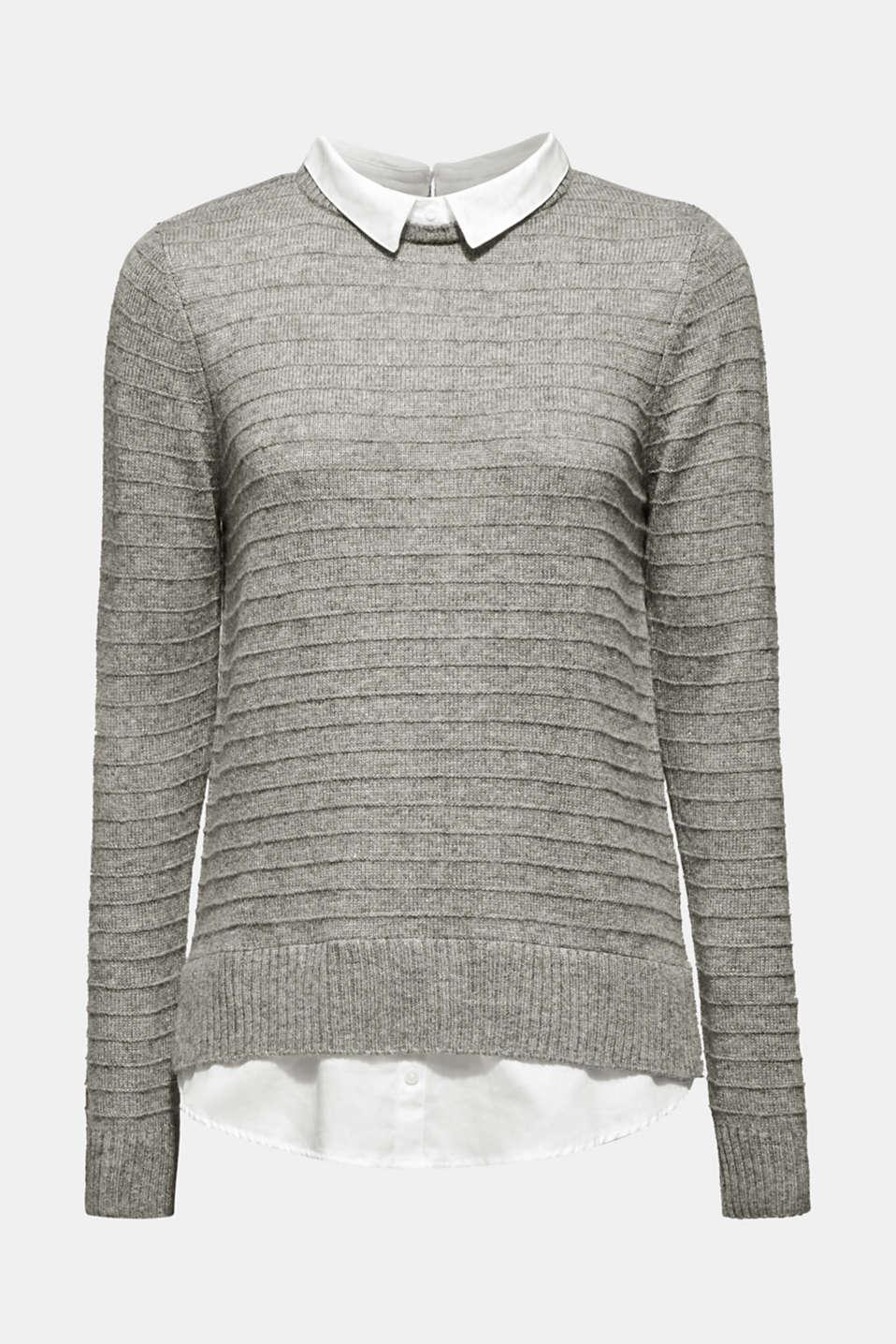 Sweaters, MEDIUM GREY 5, detail image number 9