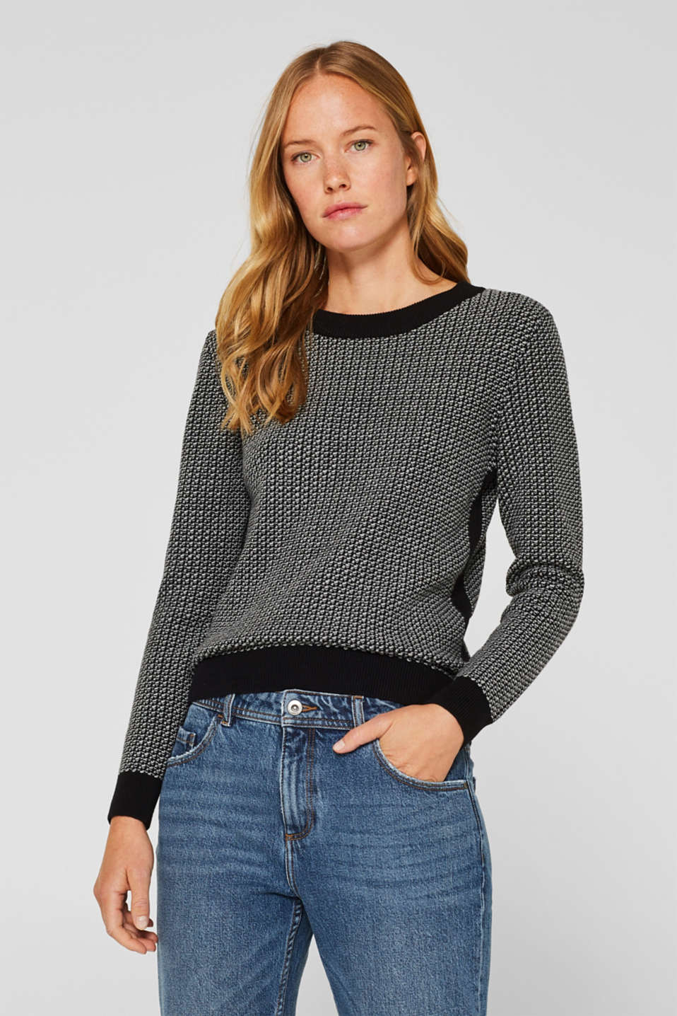 Esprit - Jumper in a two-tone look