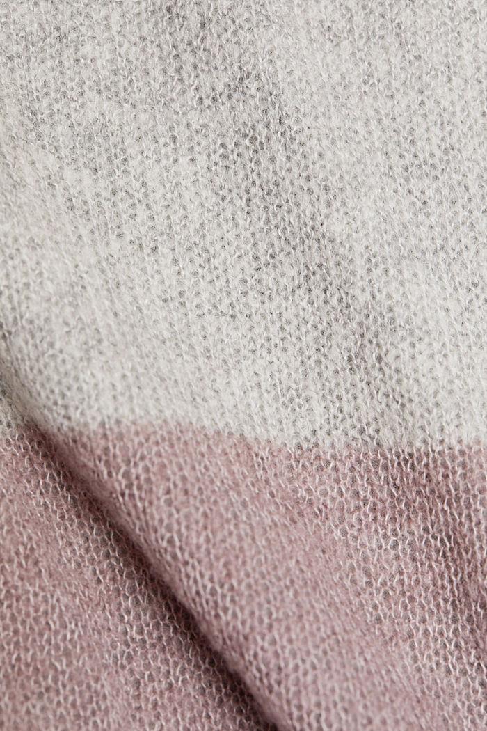 Sisältää villaa: Neulepusero, jossa jerseysisäosa, MAUVE, detail image number 4