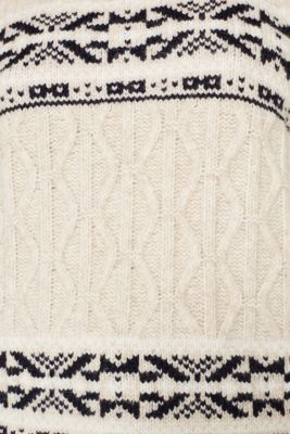 With wool: Polo neck Christmas jumper, LIGHT BEIGE 5, detail