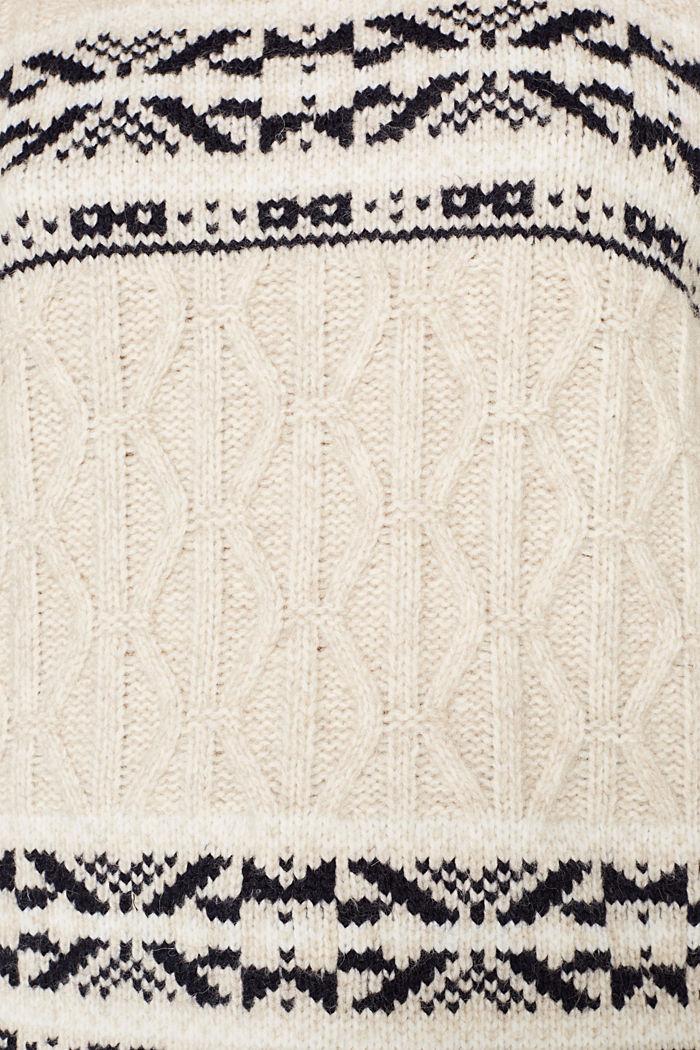 Mit Wolle: X-Mas Rollkragen-Pullover, LIGHT BEIGE, detail image number 3