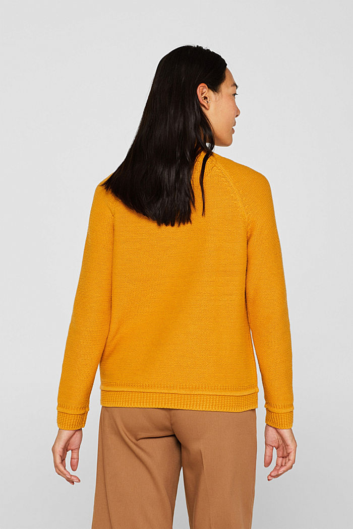 Cable knit jumper, HONEY YELLOW, detail image number 3